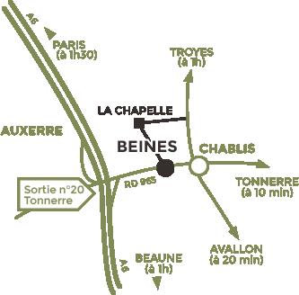 Plan d'accès - Domaine Alain Geoffroy